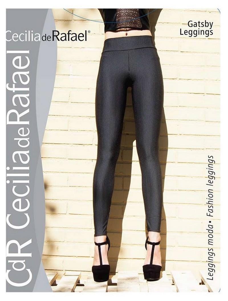 Stylowe legginsy w drobne paski Gatsby marki Cecilia de Rafael